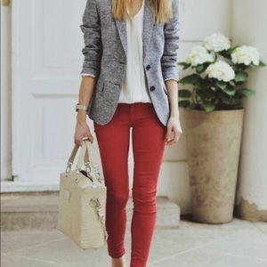 LOFT Modern Skinny Jean in Brick Red